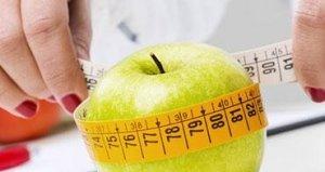Jabłko owinięte w miarkę